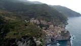 Beautiful aerial view of Cinque Terre coast in italy - 232812080