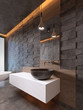 bathroom vanities white color stone washbasin, contemporary style.