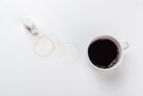 cup of coffee on white background - 232814035