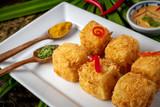 Tasty vegetarian Panang Toufu, Yellow curry with toufu. - 232814694