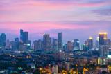 Bangkok skyline business district with beautiful sunset. - 232818093