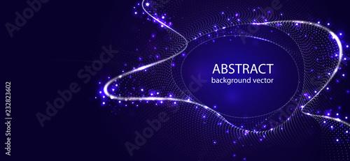 Wektorowego abstrakcjonistycznego błękitnego ruchu lekkiego skutka tło Dla biznesu, nauka, technologia projekt.