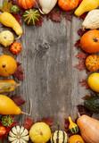 Autumn pumpkins frame - 232825456