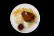 food on black background - 232833839