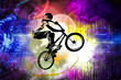 Young male bicycle jumper. Healthy lifestyle. - 232842629