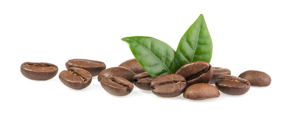 Coffee beans isolated on white background © azure