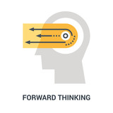 forward thinking icon concept - 232861290