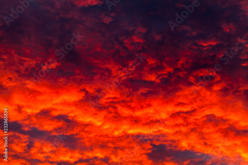 Colorful dark cloudy sky. Natural photo