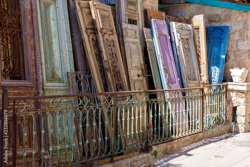 A lot of antique doors for sale. Street shop of Antiques - A Lot Of Antique Doors For Sale. Street Shop Of Antiques Buy