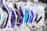 row of electric irons in retail store - 232871022