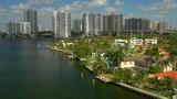 Aerial video Sunny Isles Beach Golden Shores residential neighborhood - 232876018