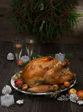 Roasted Christmas Turkey with Grab Apples - 232894839