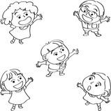 happy school kids cartoon vector