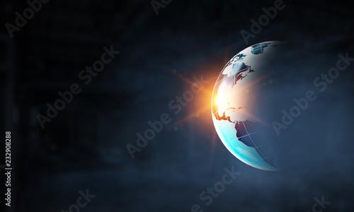 Leinwanddruck Bild Technologies for connection