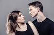 Leinwanddruck Bild - couple of two young people