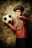 young boy with football - 232914832