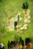 Aerial view golf course