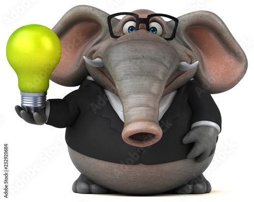 Zabawy słoń - 3D ilustracja