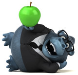 Fun gorilla - 3D Illustration - 232920899