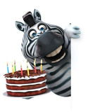 Fun zebra - 3D Illustration © Julien Tromeur