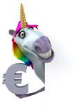 Fun unicorn - 3D Illustration - 232921036