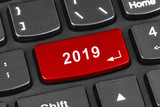 Computer notebook keyboard with 2019 key - 232921206