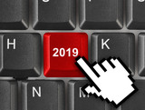 Computer keyboard with 2019 key - 232921216