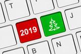 Computer keyboard with Christmas keys - 232921219