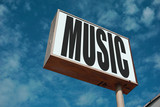 aged and worn music sign - 232922495