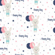 pattern cartoon hare - 232931638