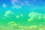 amazing vivid cumulus clouds in the sky for using in design as background. - 232943496