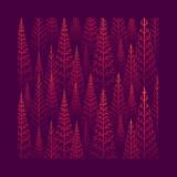 Pine tree forest illustration - 232949254