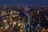 Shanghai, China - May 23, 2018: A night view from Shanghai tower to the modern skyline in Shanghai, China - 232957622