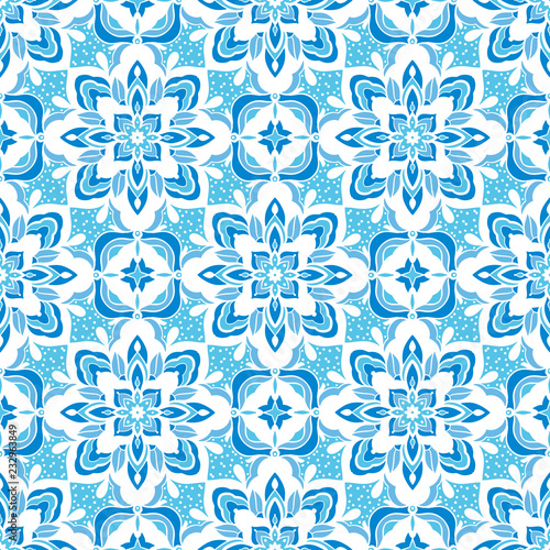Seamless pattern with arabesques - 232963849