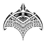 Polynesian ethnic style tattoo for bicep area - 232968044