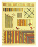 Ancient detailed ethnic collection of african textures for fabric, coast of Dutch New Guinea, isolated elements. By F.S.A. De Clercq and J.D.E. Schmeltz Leiden 1893 New Guinea - 232973202