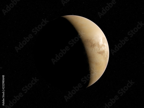 3d rendered illustration of the venus
