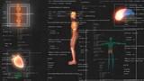 medical male man anatomy medical hud animation - 232982285