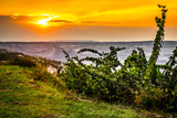 Beautiful sunset in Belchatow, Poland - 232992265