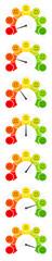 7 Smileys Color Barometer Public Opinion Horizontal © Jan Engel