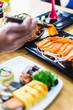 Japanese food, sushi and sashimi - 233004205