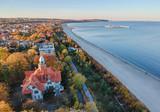 Aerial sea line landscape of Sopot