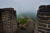 steps on the great wall in the mist  China - 233005844