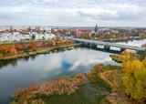 Malbork city in aurumn light - aerial view - 233009079