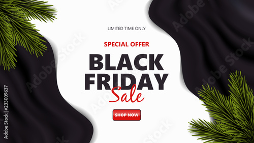 Black Friday sale design template. Vector illustration.