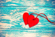 A symbol of love on blue background derevier
