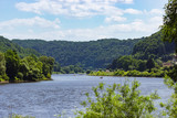 Stunning landscape along river Elbe in Saxony, Germany - 233011808