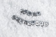 inscription on the snow merry christmas