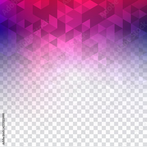 Poster colorful transparent polygonal background