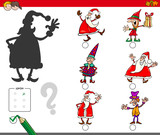 shadows game with Christmas characters - 233026856